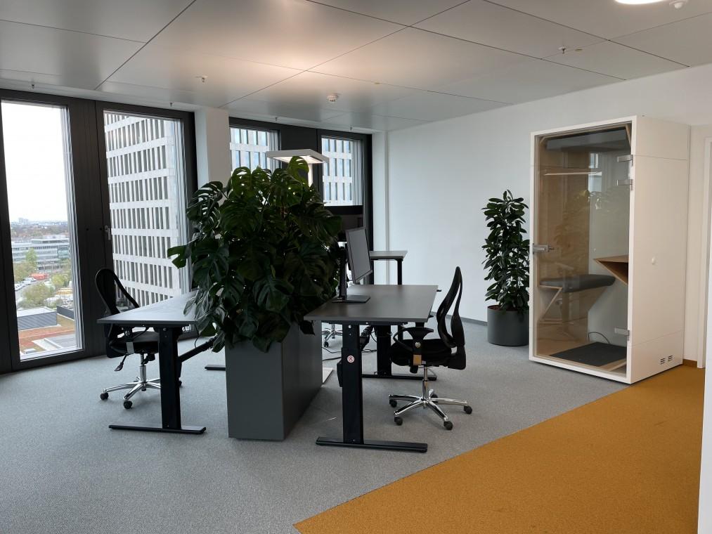 Exklusive Bürofläche mit 360-Grad City- & Alpenblick am Münchner Hirschgarten zur Zwischenmiete