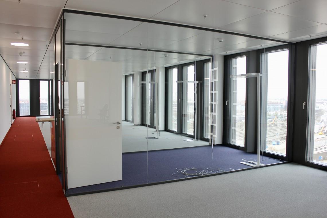 Exklusive Bürofläche mit 360-Grad City- & Alpenblick am Münchner Hirschgarten zur Zwischmiete