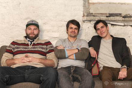 Jan Hendrik Merlin Jacob, Marcus Tandler und Andreas Bruckschlögl (v.l.) sind die Geschäftsführer von OnPage.org.