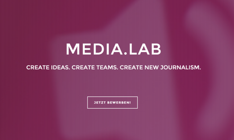Create ideas. Create teams. Create new journalism – Das media.lab Bayern startet