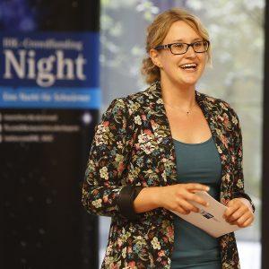 Linette Heimrich auf der 3. Crowdfunding Night