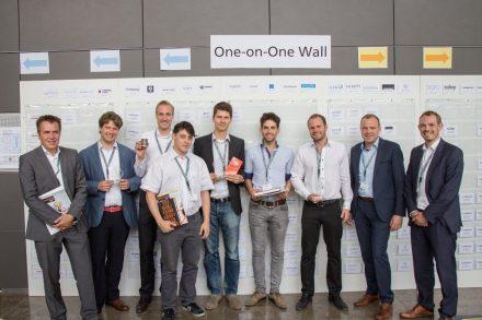 Die Gewinner der Speed-Pitches beim Munich Investment Forum 2015 von Fraunhofer Venture: Toposens, Lilium und Baristina