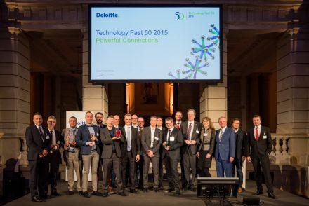 Deloitte Fast 50 - 2015 Berlin; Preistrager alle Kategorien.