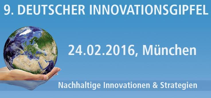 Der 9. Deutsche Innovationsgipfel am 24.02.2016 in München.