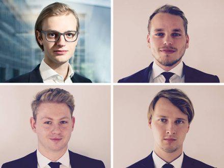 """Sie gehören zu den Top """"30 Under 30"""": Alexander Rinke (Celonis), Sinan Denemec, Moritz Knoblauch und David Fehrenbach (iuvas) (v.l. oben im Uhrzeigersinn). (Bilder: Celonis, iuvas)"""