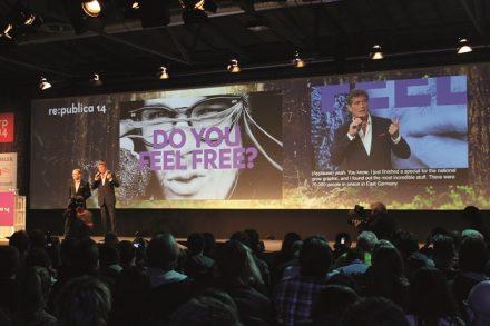 Konferenzen wie die re:publica bespielt VerbaVoice mit der innovativen Technologie (Copyright VerbaVoice).