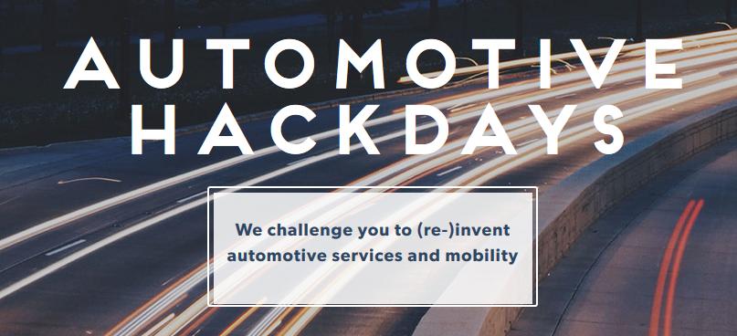Automotive Hackdays vom 18. bis 22. März 2016 bei UnternehmerTUM in Kooperation mit BMW und MINI.
