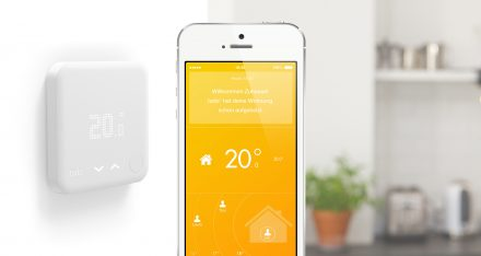 Das Smart Thermostat steuert die Innentemperatur (Foto: tado°)