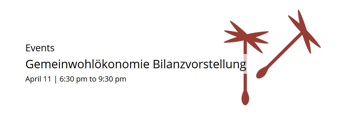 Gemeinwohlökonomie Bilanzvorstellung
