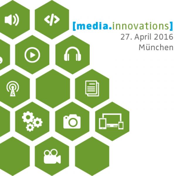 media.innovations, der Medieninnovationstag der Bayerische Landeszentrale für neue Medien (BLM), am 27. April 2016 in München.