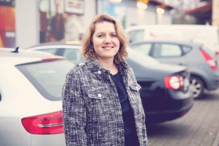 Denise Schuster ist die Gründerin von UnserParkplatz