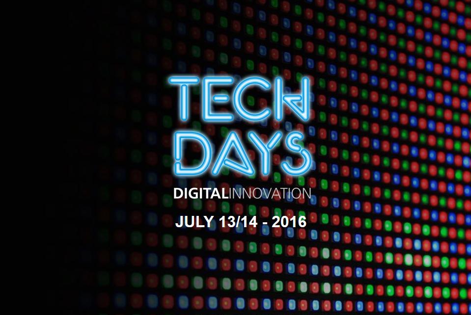 TechDays 2016 am 13. und 14. Juli im WERK1.