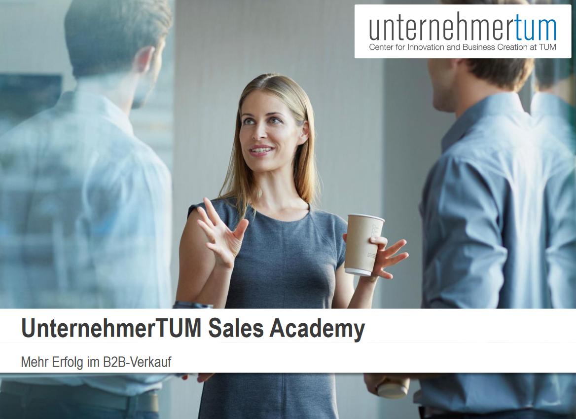 unternehmerTUM sales academy