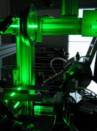 Laser-optische Messung des Ladungswechsel- und Verbrennungsvorgangs im FKLG