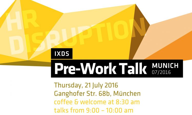 Pre-Work Talk – HR Disruption