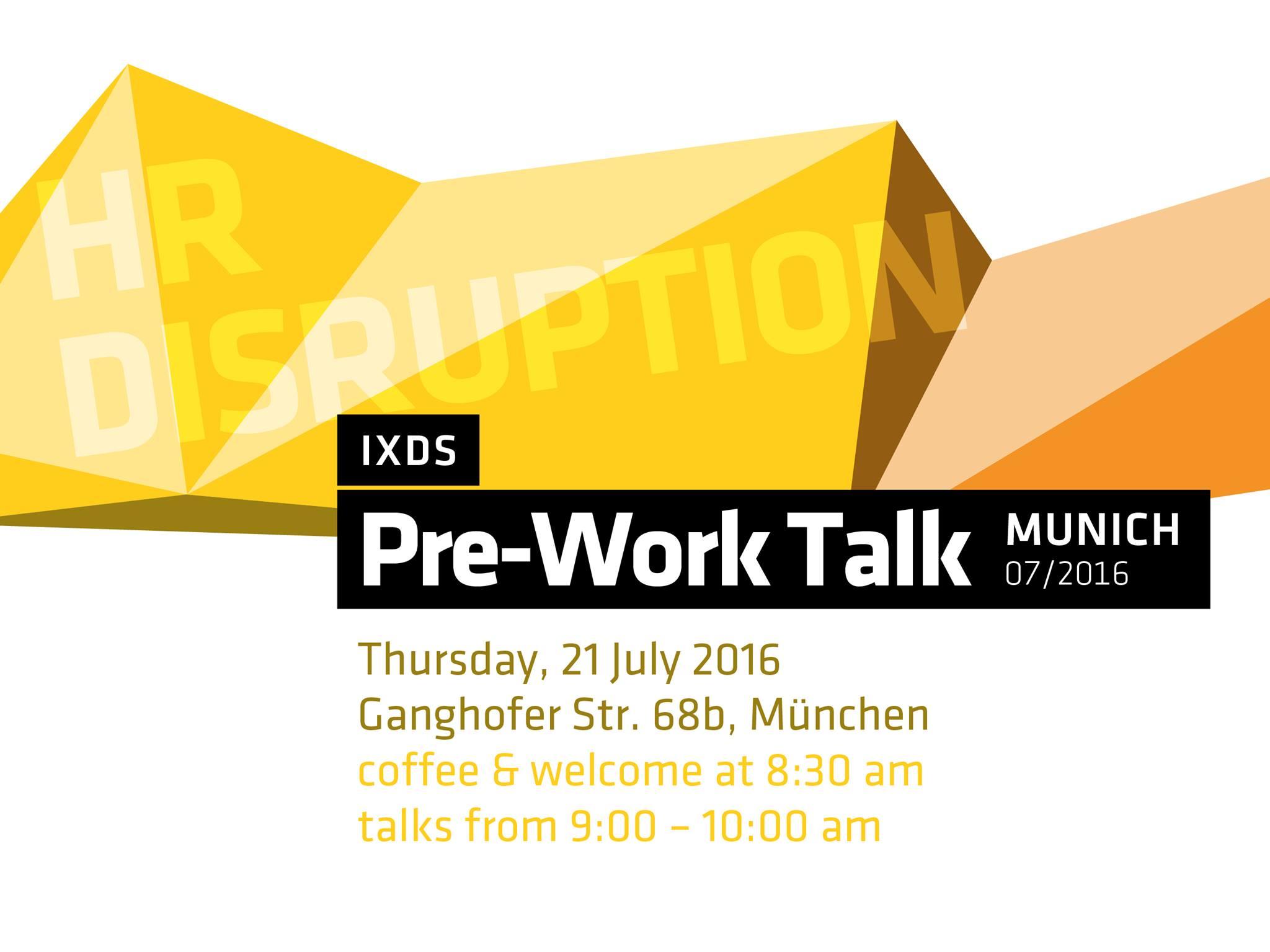 IXDS pre-work talk