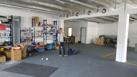 Die hauseigene Werkstatt am Garchinger Firmensitz.
