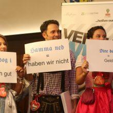 Unter anderem diese bayerischen Begriffe sind in den Pitch einzubauen.