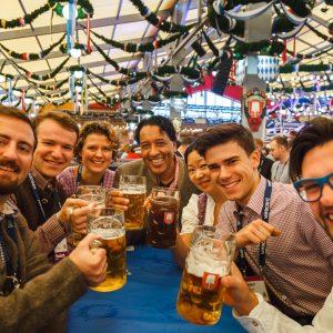 Oktoberfest-Networking der Bits and Pretzels