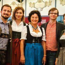 Das Munich Startup Team auf dem Oktoberfest-Networking der Bits and Pretzels