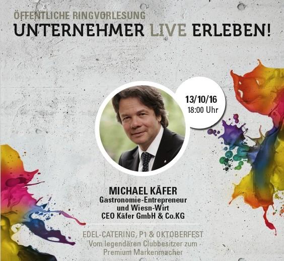Unternehmer Live Erleben: MICHAEL KÄFER