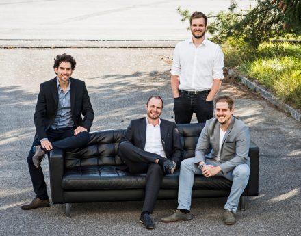 Die Gründer: Daniel Wiegand, Sebastian Born, Matthias Meiner und Patrick Nathen (v.l.) © Lilium Aviation