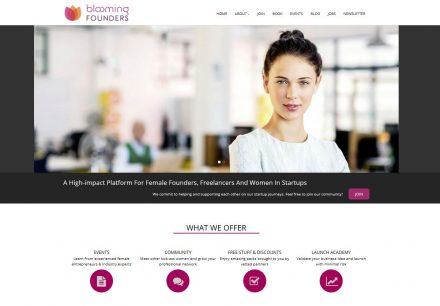 Blooming Founders Homepage