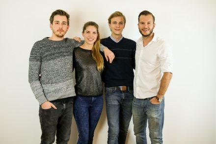 Das Ainoha-Team: Simon Förstemann, Monica Wimmer, Christoph Johanngieseker und Johannes Schmid (v.l.), © Ainoha