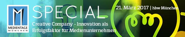 MEDIENTAGE Special: Creative Company – Innovation als Erfolgsfaktor für Medienunternehmen