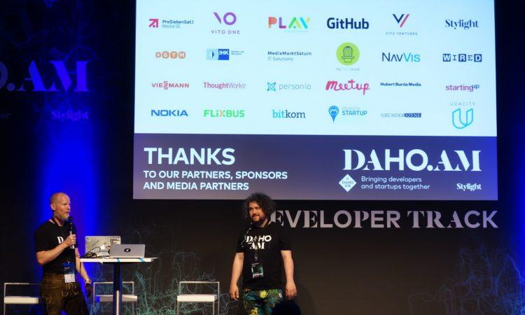 Stylight-CTO Dan Ackerson und Tech Evangelist Johann Romefort (v.l.) bei Daho.am 17, Foto: Munich Startup