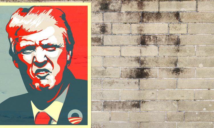 Trump Plakat Wand