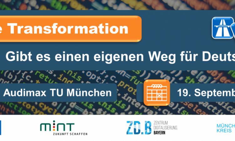 """Konferenz """"Digitale Transformation – Gibt es einen eigenen Weg für Deutschland?"""""""