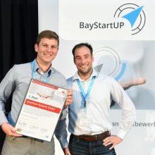 Armin Busse und Ferdinand Veith (Quantum Systems) Münchener Businessplan Wettbewerb 2017