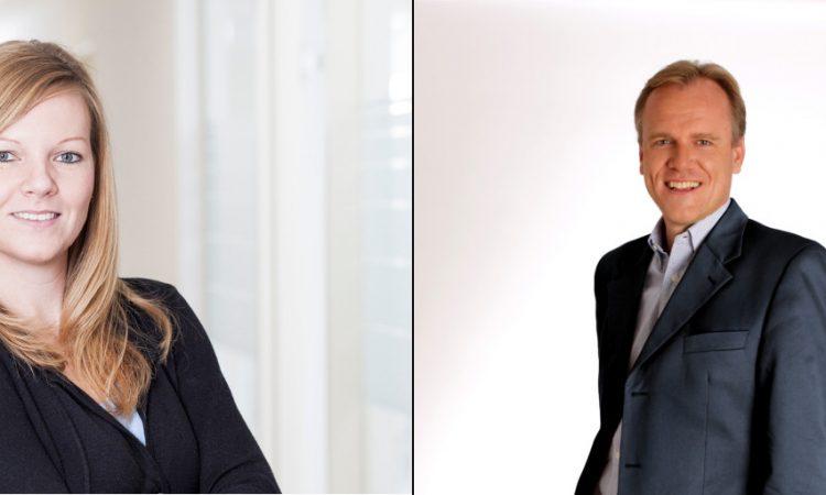 Die Geschäftsführer von leadtributor Katharina Blum und Philipp von der Brüggen.