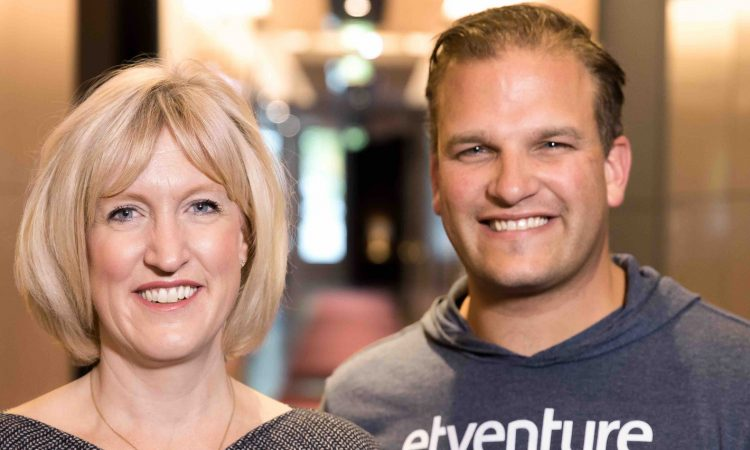 Julie Teigland von EY und etventure-Gründer Phillipp Depiereux. Foto: etventure GmbH