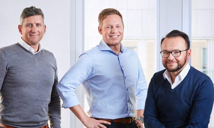 Paul Huber (Managing Director), Rolf-Henning Hackel (Managing Director) und Reinhard Tahedl (CEO), v.l., Foto: Finconomy