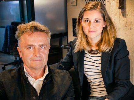 Die Gründer von ProjectRoom: Stefanie Feder (r.) und Henryk Vogel. Foto: ProjectRoom