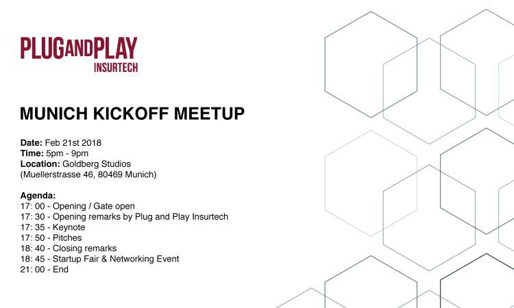 Plug and Play Insurtech – Munich KICKOFF Meetup