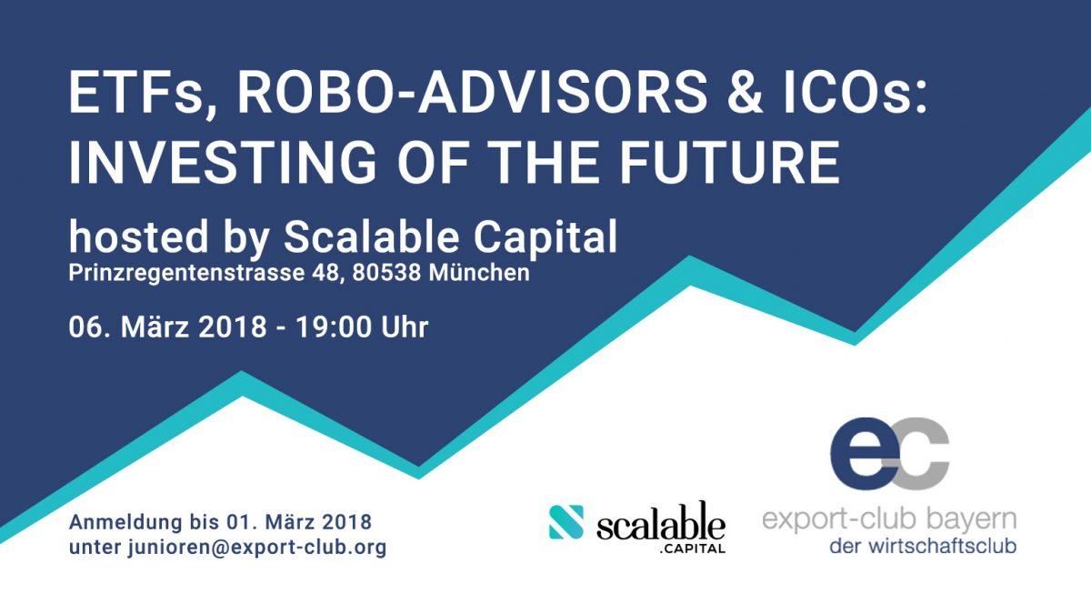 "FinTech Panel ""ETFs, Robo-Advisors & ICOs: Investing of the Future"""