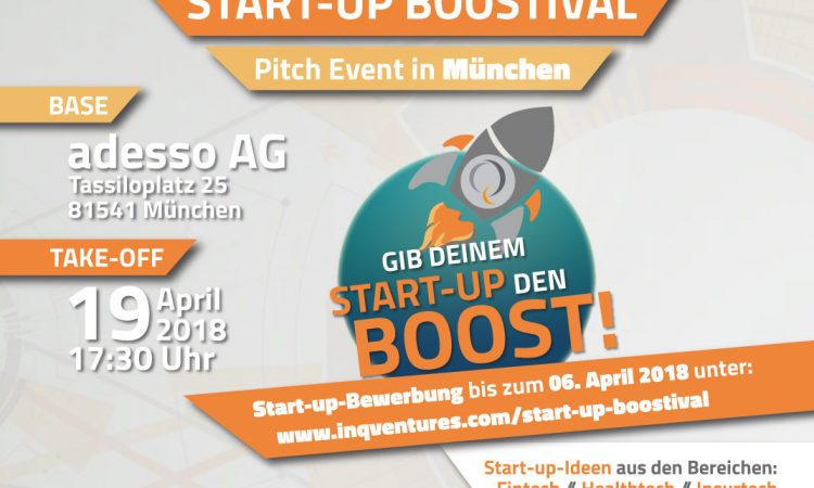 2. Start-up BOOSTIVAL Pitch Event // München