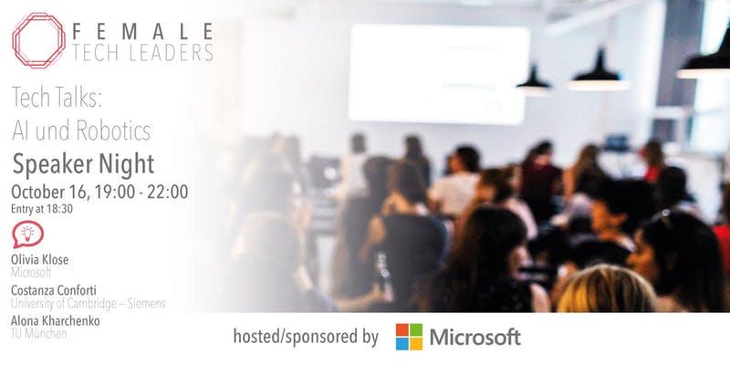 Female Tech Leaders Speaker Night