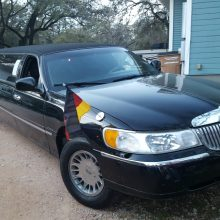 Schwarze Limousine in Austin