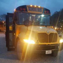 Amerikanischer Schulbus in Austin