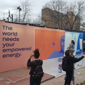 Wallpainting auf der SXSW in Austin 2018