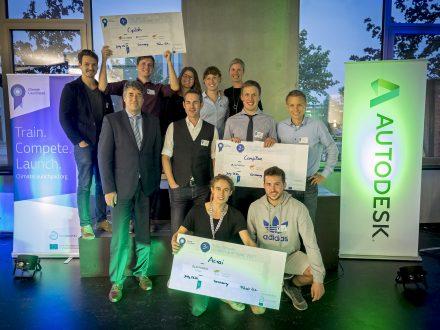 Die Gewinner des ClimateLaunchpad 2017.