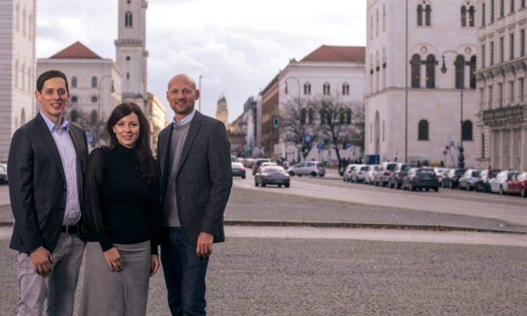 Die Cluno-Gründer Nico Polleti, Christina Polleti und Andreas Schuierer. (v.l., Foto: Cluno)