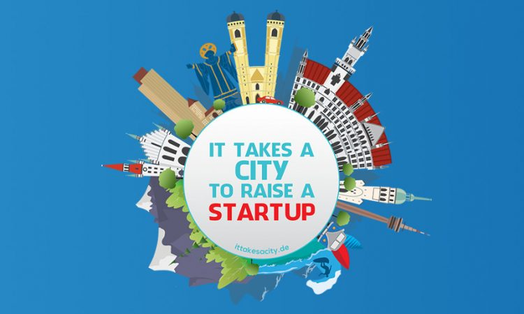 Poster-Aktion It takes a city to raise a startup