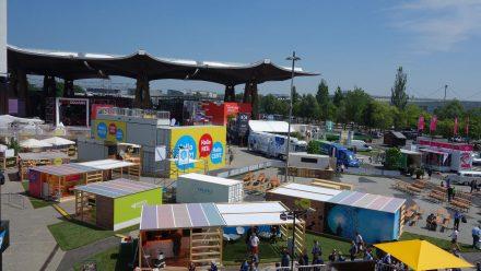Festival-Gelände im Aufbau