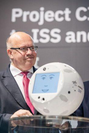 Bundeswirtschaftsminister Peter Altmaier auf der Cebit 2018.