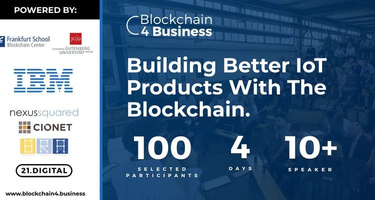Blockchain 4 Business: Building Better IoT Products With The Blockchain